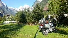 My BMW R 1200 GS under Triglav in Trenta (Slovenia)