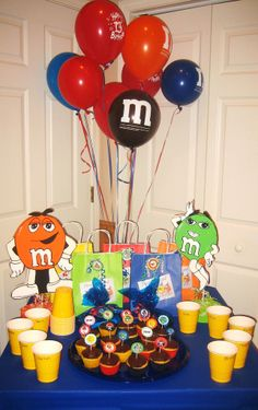 Molly and Megans M&M 1st birthday party.