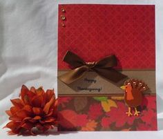 HANDMADE THANKSGIVING CARD - IDEAS FOR MAKING GREETING CARDS
