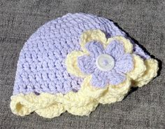Flower Hat, Baby Girl Hat, fFower Beanie, Cute Lilac, Lemon Photo Prop, Baby Gift, Baby Birth, Shower, Preemie, newborn 0-3m, large flower, Baby Girl Hats, Cute Baby Girl, Girl With Hat, Birth Gift, Baby Birth, Handmade Baby Gifts, Flower Hats, Cute Hats, Big Flowers