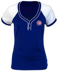Antigua Women's Chicago Cubs Closer V-Neck T-Shirt