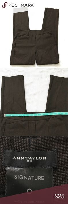 Ann Taylor Brown Signature Fit Dress Pants Ann Taylor Brown Signature Fit Dress Pants, size 0.  In excellent, like new condition.  See pictures for measurements. 😊 Ann Taylor Pants