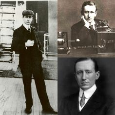 """GUGLIELMO MARCONI GuglieImo Marconi (born 1874 in Bologna, Italy) became fascinated with the discovery by German Physicist Heinrich Rudolf Hertz of """"invisible waves"""" generated by electromagnetic interactions. Marconi built his own wave-generating equipment at his family estate and thus sent and recieved his first radio signal in 1895. Marconi moved to England and worked with the British Post Office. Two years later, he set up a wireless station on the Isle of Wight that allowed ..."""