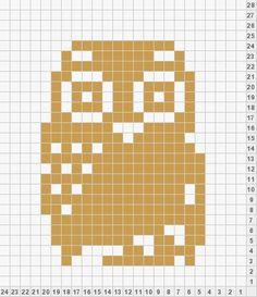 muster für stickereien color chart duplicate stitch Duplicate Stitch Owl