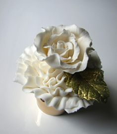 Ruffle Rose, Luv the Golden leaf. And I can't stop thinking about how this reminds me of president snow! :-C