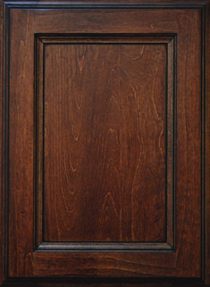 Dorset Flat Panel Door  Available Material: Standard Wood Species Color Shown: Brazilnut Stain with Black Glaze on Maple Material Available in All Outside Profiles - Shown with Venice Outside Profile Kitchen Cabinet Doors, Face Framing, Custom Cabinetry, Panel Doors, Wood Species, Color Show, Venice, Glaze, Profile
