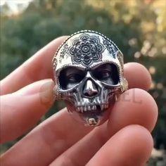 Buddha Silver 925 Ring - Badass Mask Buddha Skulls Skeleton Buddhism Symbol Mandala Religion Skull Solid Vikings Sterling S - Skull Jewelry, Silver Jewelry, Men's Jewelry, Luxury Jewelry, Diamond Jewelry, Jewelry Accessories, Fine Jewelry, Buddhism Symbols, Buddhism Religion