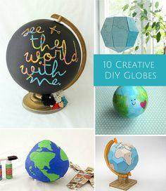 9 Creative DIY Globes. Fun way celebrate Earth Day!
