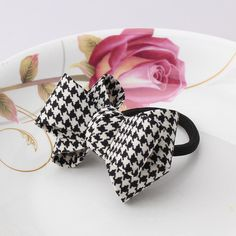 Apparel Accessories M Mism Girls Bow Dot Flower Elastic Hair Band High Quality Hair Tie Rope For Women Bowknot Rubber Band Top Knot Scrunchy Fancy Colours