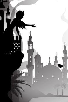 World Tales: The Water of Life - Laura Barrett - Illustration Portfolio - London Based Freelance Silhouette & Pattern Illustrator