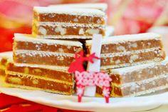 Ako na domáce grilážové rezy | Urob si sám Vanilla Cake, Desserts, Food, Tailgate Desserts, Meal, Dessert, Eten, Meals, Deserts