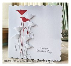 Memory Box Die Card Ideas | ... of Continuous Small Treats: Memory Box Prim Poppy Mother's day card