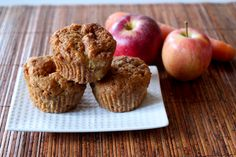 Carrot muffins with applesauce.