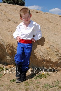My Adventure: Prince Eric Costume idea white pirate style shirt, red shash belt, blue pants or jeans and black boots