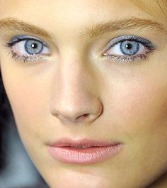New Blue Eye Makeup: Why Wait to Try This Transparent Blue Eye?