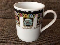 Mary Engelbreit Coffee Tea Cup Mug At Home 2001 Flowers Love Home Family Friends #Enesco