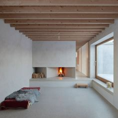 This pared-back holiday home on the Swedish island of Gotland features concrete interiors