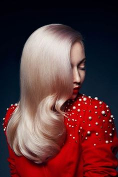 Gorgeous blonde hair by Cameron Lesiege for Paul Mitchell. Photography/Model - Daryna Barykina