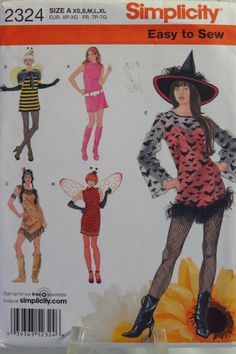 Simplicity Sewing Pattern 2324 Misses' Costumes