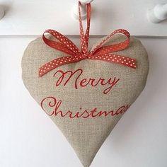 christmas winter holidays / christmas ornaments burlap - Polyvore