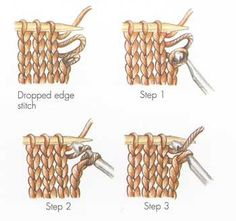 How to fix a dropped edge stitch - Knitting Daily - Blogs - Knitting Daily