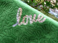 Quilt Taffy: Adding Words to Your Quilt Back