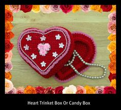 Heart Trinket Or Gift Box Crochet Pattern by craftsforangels