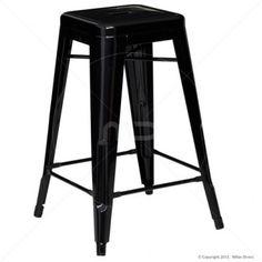 Vintage Metal Cafe Bar Stool - 65cm Black - Buy Vintage Metal Cafe Bar Stool & Stools Sydney - Milan Direct
