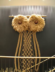 "Macrame Sculpture - Andy Harman...""The Owl"""