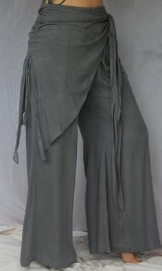 Grey pant/bellbottom. Love this color. Lotus Traders