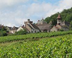 Burgundy village and vineyard