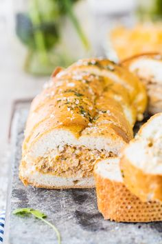 taco stuffed french baguette