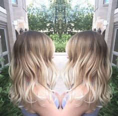 Cut & Color Ash blonde Baliage Ombré Melt Lived in color Summer hair @nicolettepaige