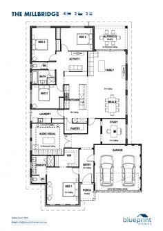 The loano floorplan house plans pinterest more perth ideas the millbridge 4 bedroom home design perth floorplans malvernweather Image collections