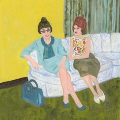 Helen and Florence. Limited edition print of an original oil painting by Vivienne Strauss.