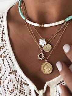 Shop Floryday for affordable Accessories. Floryday offers latest ladies' Accessories collections to fit every occasion. Gold Chain Choker, Delicate Gold Necklace, Layered Choker Necklace, Gold Chain With Pendant, Layered Jewelry, Gold Chain Necklaces, Layered Gold Necklaces, Pendant Necklace, Layering Necklaces