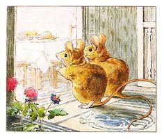 Hunca Munca e o marido cheios de apetite | #Beatrix #Potter
