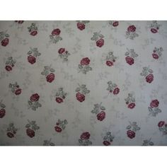 Tissu patchwork stof petites roses bordeaux