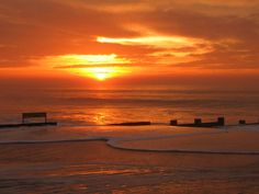 sunrise over Isle of White