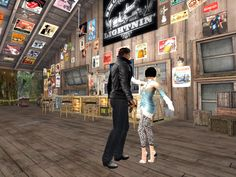 Second Life, Architecture Art, Times Square, Street View