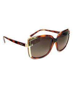 Take a look at this FENDI Havana & Gold Trim Sunglasses by FENDI on #zulily today!