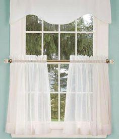 Cotton Voile Tier Curtains