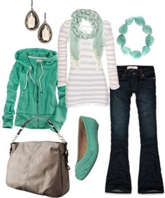 Mint and stripes for fall