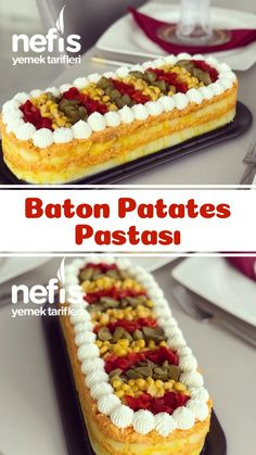 Baton Patates Pastası – Nefis Yemek Tarifleri How to make Baton Potato Cake Recipe? Here is the illustrated description of Baton Potato Cake Recipe in the book of people and the photos of the experimenters. Cake Recipes For Kids, Best Cake Recipes, Cookie Recipes, Yummy Recipes, Perfect Salad Recipe, Sweet Potato Breakfast, Flaky Pastry, Potato Cakes, Amazing Cakes