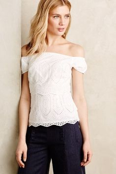 Agnes Tiered Eyelet Top #anthrofave