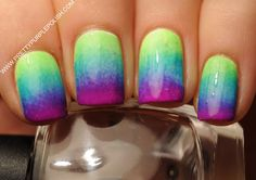 Gradient Mani w/ neon colors! I'm Getting this done next!