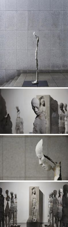 Hollow Figurative Sculptures by Park Ki Pyung