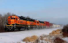 https://flic.kr/p/TYmeaZ   BNSF 1663   Four repainted EMD's lead the Rapids Turn out of Superior on cold winter afternoon.  BNSF 1663 BNSF 1990 BNSF 1541 BNSF 2984