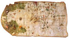 Mapamundi de Juan de la Cosa. El mapa de Juan de la Cosa tiene gran importancia histórica por ser el único mapa conocido realizado por un testigo presencial de los dos primeros viajes de Colón.2 Es además la carta más antigua en la que aparece de forma indiscutible el continente americano.