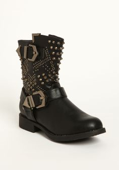 Studded Buckle Boots - Love Culture